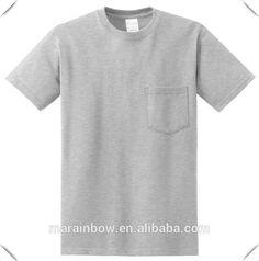 Blank Pocket T Shirts For Men Tri-blend Ashgrey Cotton Custom ...