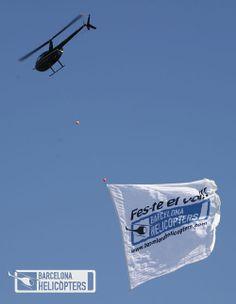 Barcelona Helicòpters - Helipistas S.L. - Publicitat amb Pancarta - Publicidad con Pancarta - Aerial Advertising