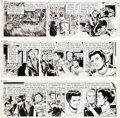 Original Comic Art:Comic Strip Art, George Wunder Terry and the Pirates Daily Comic StripOriginal Art dated 11-8-71 through 11-10-71 (New York News I...(Total: 3 Original Art)