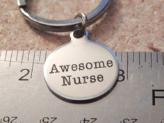 Awesome Nurse keychain 20mm round Nursing by FamilyHouseStampin #jewelry #etsyfinds #keychain
