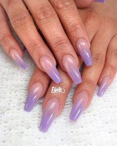 20 Best Purple ombre Nails images in 2019