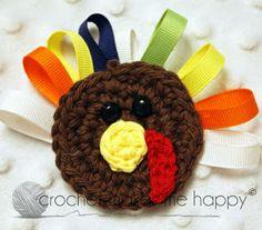 Crochet Makes Me Happy!: Turkey Applique - Crochet Pattern