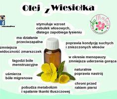 Olej z wiesiołka Slow Food, Doterra, Beauty Hacks, Essential Oils, Food And Drink, Health Fitness, Wellness, Drinks, Healthy