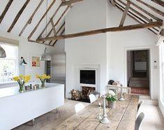 Rustic, modern kitchen