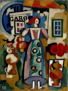 Portuguese Art from Past to Present Gouache, Modernisme, Art Thou, Arte Popular, Modern Times, Gustav Klimt, Western Art, Paint Designs, Classical Music