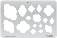 CLOUDS Design Template Stencil for Drawing Drafting Jewellery Making