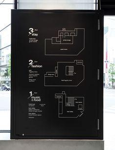 way finding Hotel Koé Beschilderung Map Signage, Hotel Signage, Directional Signage, Wayfinding Signs, Event Signage, Graphisches Design, Logo Design, Signage Design, Stand Design