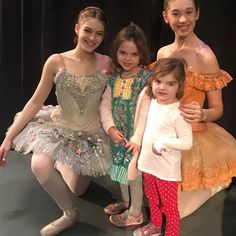 Aggie and Eda with ballerinas #granddaughters