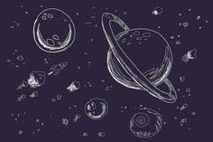 planets galaxy drawing - Google zoeken