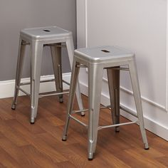 """24"""" Avalon Metal Stackable Stool"""