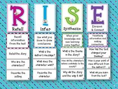 RISE to Higher Level Reading Comprehension — A Menu of Strategies! RISE to Higher Level Reading Comprehension — A Menu of St Reading Workshop, Reading Skills, Teaching Reading, Guided Reading, Reading Groups, Dyslexia Teaching, Reading School, Close Reading, Teaching Ideas