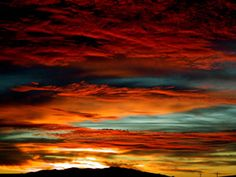 Nevada sunset.  If someone painted this it would look fake, but that's how they really look !!