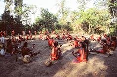 Xavante ceremonial gathering