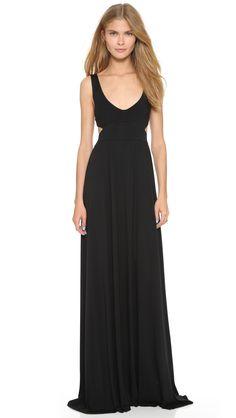 Rachel Pally Women's Long Cutout Dress, Black, XX-Small. Jersey. 92% modal/8% spandex. Dry clean. Width 60.75in / 154.5cm, from shoulder.