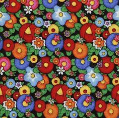 Mary Engelbreit Flowers  Quilting Treasures  (perfect for resizing to any scale)