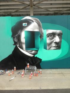 streetartglobal:  Works in progress in Hackney Wick…  #graffiti #streetart #mural