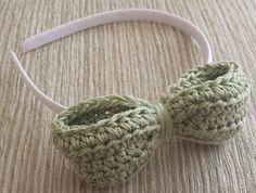Handmade bow headband cotton bows headbands by MaureensCrochetLove