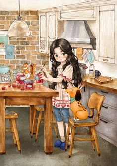 321 images about The Diary Of A Forest Girl on We Heart It Adorable Petite Fille, Girls Diary, Forest Girl, Anime Art Girl, Cute Illustration, Cute Cartoon, Cute Wallpapers, Cute Art, Chibi