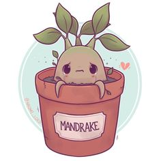 """Gefällt 4,657 Mal, 106 Kommentare - Naomi Lord (@naomi_lord) auf Instagram: """"Have a little Mandrake! :3 what are some other HP plants I can draw? ✨ • #mandrake"""