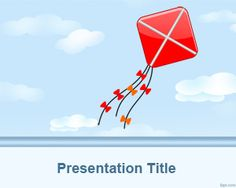 Kite PowerPoint Template is a free kite background converted to a PowerPoint presentation that you can download to make presentations for kids in MS PowerPoint 2007 and 2010