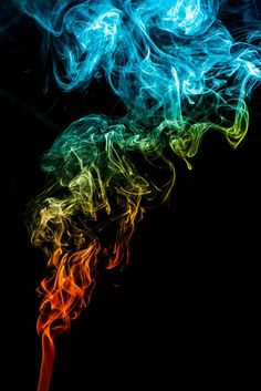 Photo Idea: Use colored gel lenses and snooted flashes to capture these amazing shots of rainbow smoke! Sean Wyatt made these multi-colored smoke photos by doing just that! via peta pixel