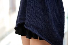 Knit over tiered skirt