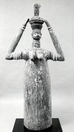 Masquerade Element: Female Figure (Oloshun), Republic of Benin, Takon-Pobé region, Yoruba peoples, century. Metropolitan Museum of Art. African Masks, African Art, French West Africa, African Sculptures, Art Premier, African Tribes, Indigenous Art, Tribal Art, Large Art