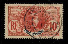 CÔTE-D IVOIRE - 1911 - CACHET À DATE DE KOROKO SUR 10c FAIDHERBE - RARE