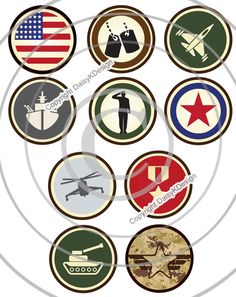 Bottle Cap Images Military Icons