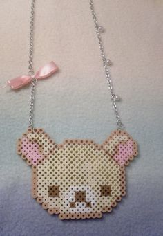 Bear perler beads, Rilakkuma stuff I think