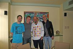 Eu, meu amigo bilionário Mark Zuckerberg, Mauro Bedaque e Cazé nos bastidores do especial MTV Apresenta: Facebook     #Mark Zuckerberg
