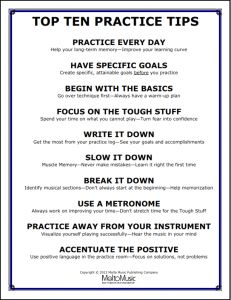 Download the Top Ten Practice Tips poster