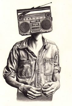 Hipster drawing