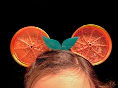 Items similar to Orange Slice Ears on Etsy Orange Leaf, Orange Slices, Dragon Horns, Meet The Robinson, Ribbon Headbands, Mickey Ears, Black Ribbon, Bows, Stud Earrings