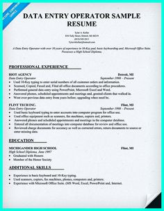 data entry skills resume