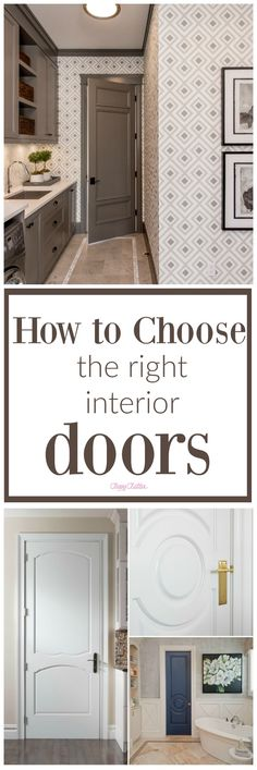 How to choose the right interior doors in your house!! Check it out