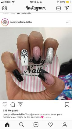 Black White Nails, Snails, Short Nails, Pretty Nails, You Nailed It, Nail Art Designs, Acrylic Nails, Beauty Hacks, Tattoos