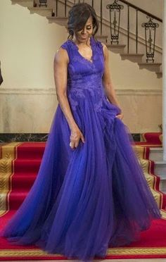 Welcome to Maud Manyore's blog : Michelle Obama's dress at White House State Dinner...