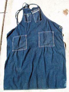 rare vintage denim selvedge apron