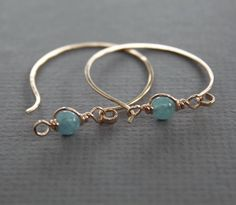 Rose gold tone bronze hoop earrings with unique by IngoDesign