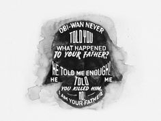 """""""STAR WARS – Watercolor Lettering"""" by Cyril Mikhailov on Behance."""