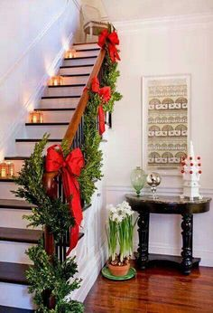 top indoor christmas decorations on pinterest gift ideas pinterest indoor christmas decorations decoration and christmas decor - Stairway Christmas Decorating Ideas Pinterest