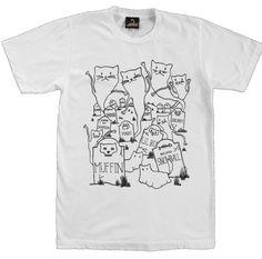 Ghost Kitty T Shirt. White | PRETTY SNAKE