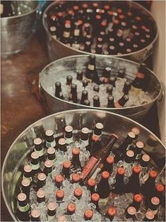 Drink storage for outside wedding, don't have to put alcohol in these, can put coke and mtn dew too