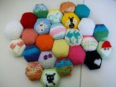 Hexipuff charts! Duplicate stitch!