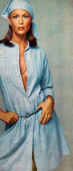 Lauren Hutton. Photo by Richard Avedon. Vogue US 1973.