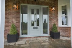 Not sure what composite door you want? Take a look at some of the beautiful composite door installations that Solidor has done and get inspired online here. Grey Front Doors, Victorian Front Doors, Front Doors With Windows, Porch Doors, Modern Front Door, House Front Door, Front Door Colors, House With Porch, House Entrance