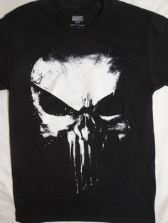 0f175c514f397 The Punisher Big Skull Logo Marvel Comics T-Shirt  Marvel  GraphicTee Skull  Logo