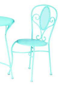 Another great find on #zulily! Cupcake Powder Blue Iron Bistro Chair - Set of Two by Alfresco Home #zulilyfinds