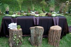 Would love to have a tree stump for sofa side table... Just need to find a tree to cut down ;)